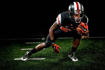 Dramatic Lighting on Football Player or OSU 5