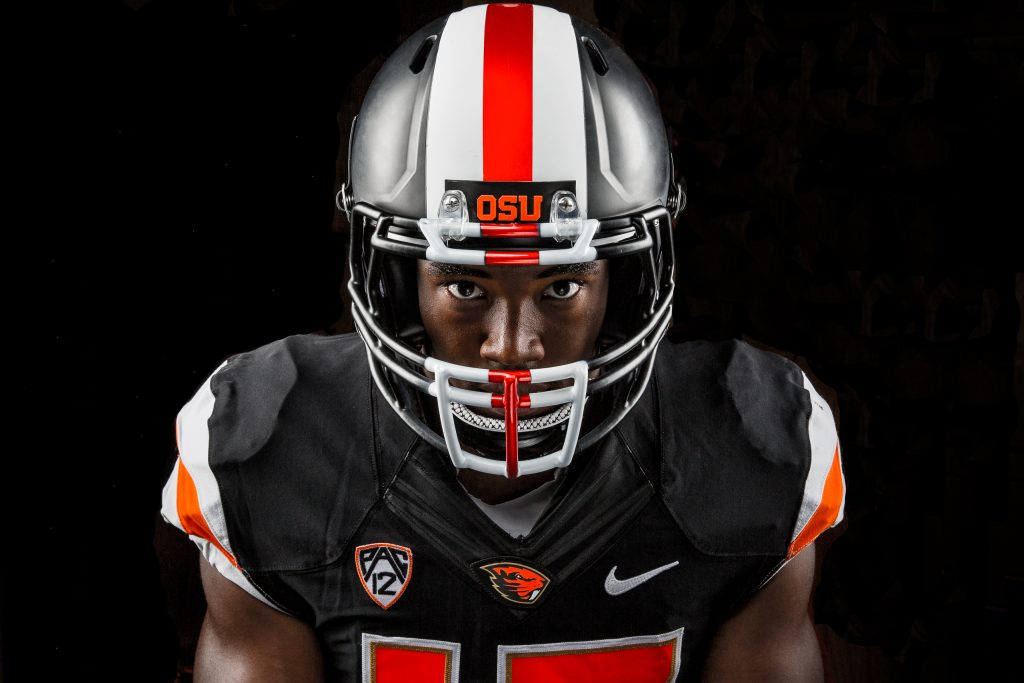 Dramatic Lighting on Football Player or OSU 2