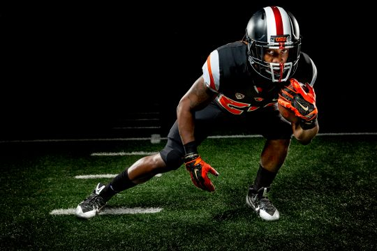 Dramatic Lighting on Football Player or OSU 5
