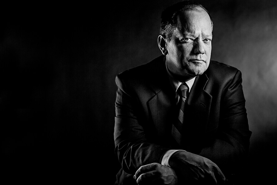 Dramatic Business Man Portrait Black and White