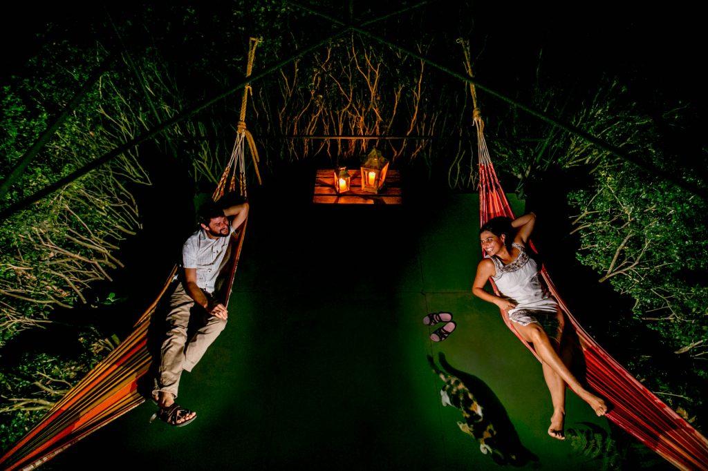 Hammocks at spa retreat center at Pura Vida in Costa Rica