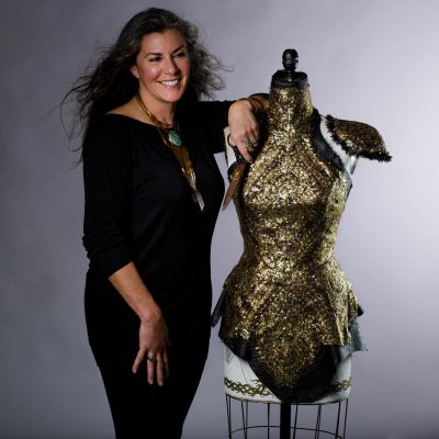 Wedding Dress Designer Sonia Kasparian at Headshot Happy Hours Portland Wood and Smith photography