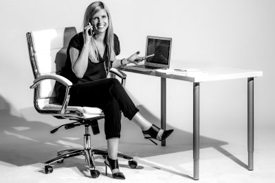 Creative Business Woman at Desk