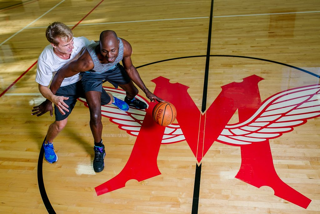 Basketball Players at Multnomah Athletic Club