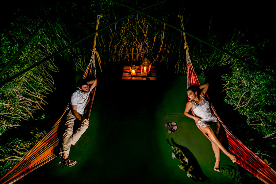Hammocks at Pura Vida Spa and Retreat in Costa Rica