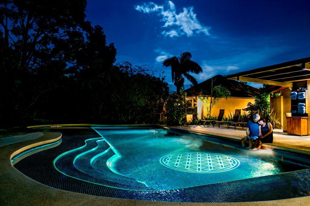 Salt Water Swimming Pool at Pura Vida Spa in Costa Rica
