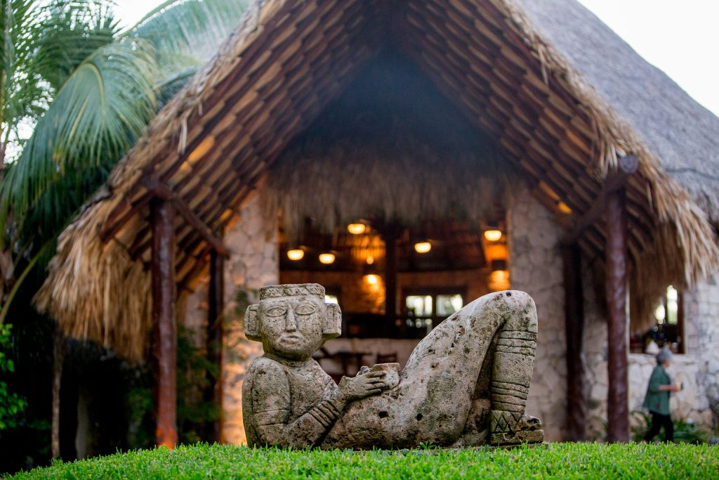 Mayatulum Spa and Resort entrance in Mexico