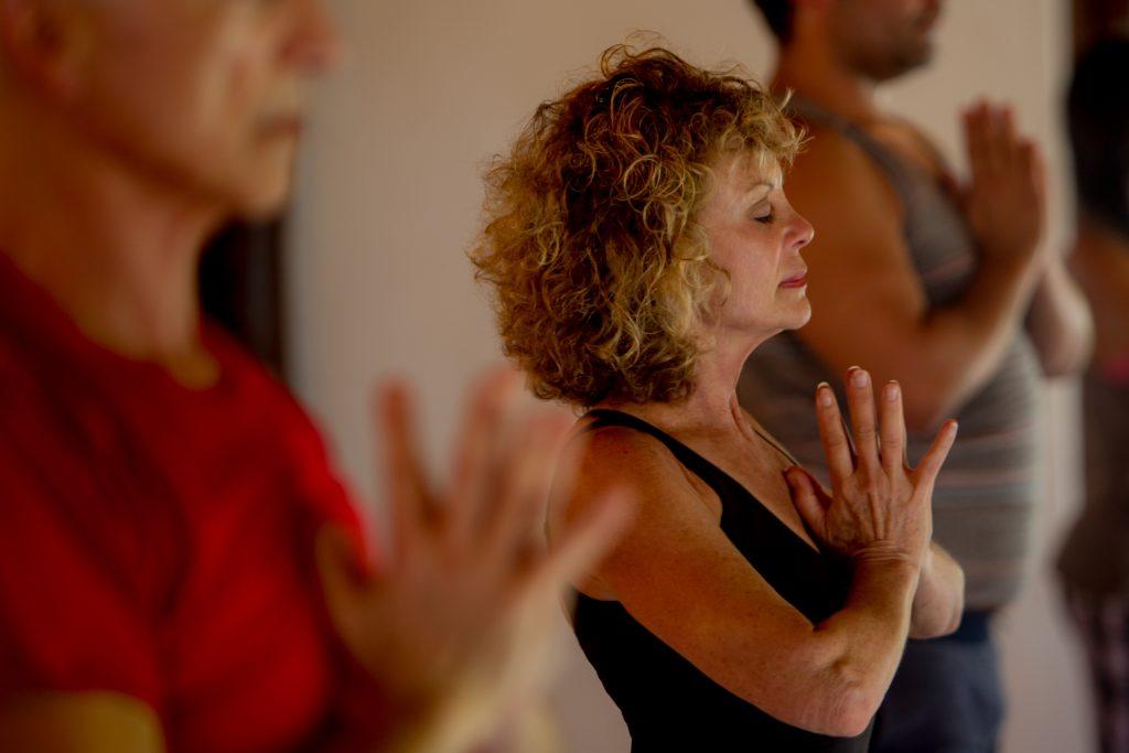 Yogi practicing yoga at Mayatulum in Mexico at spa and resort