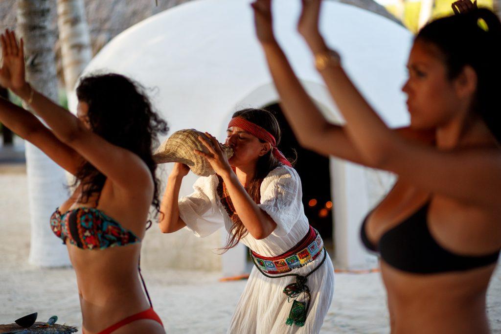 Temazcal Sweatlodge ritual at Mayatulum Mexico