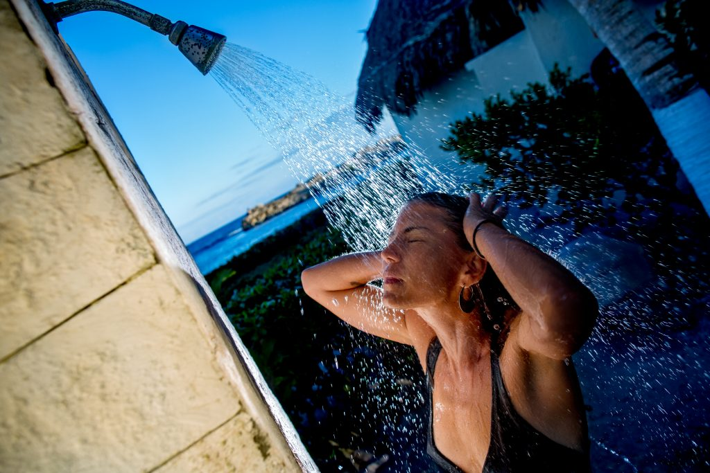 Tropical Outdoor Shower at Maya Tulum Spa and Resort